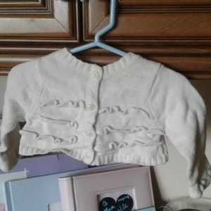 Button up baby sweater.